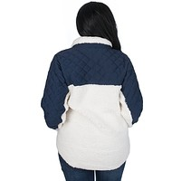 Logan Quilted Pullover in Sailor Navy by Lauren James - FINAL SALE