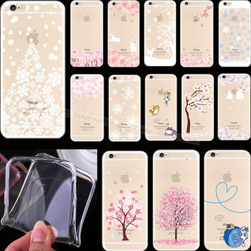 6 6S Painting Snow Christmas Tree Silicon Phone Cover Cases For Apple iPhone 6 iPhone 6S iPhone6 iPhone6S Case Shell Best Choose