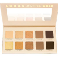 Unzipped Gold Shimmer Natural Matte Cosmetic Makeup Eye Shadow Palette by LORAC