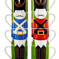 Maxwell & Williams Set of 4 Nutcracker Stackable Mugs