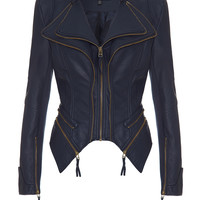 PULP - Navy leatherette jacket