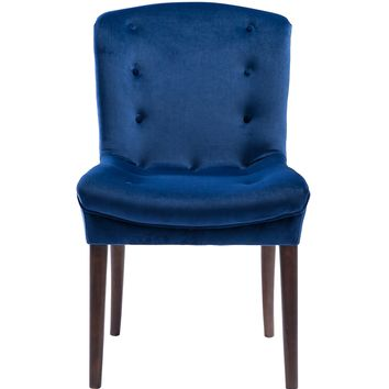 Victor Navy Velvet Chair