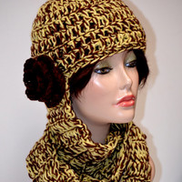 Combination Hat and Scarf. Chunky Hat and Scarf Crochet set