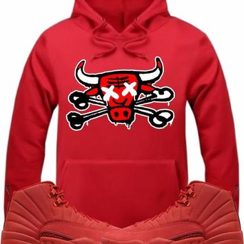 Air Jordan Retro 12 Gym Red Sneaker Hoodie - BULLY BONES RK