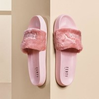 "PUMA BY RIHANNA LEADCAT FENTY ""Pink"" Slipper Sandals 362266"