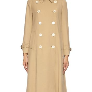 Pleated back wool trench coat | Gucci | MATCHESFASHION.COM US