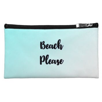 Beach Please Large Sueded Cosmetic Bag