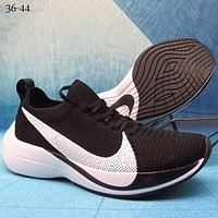 NIKE ZOOM VAPORFLY ELITE low woven fly line big hook fashion casual shoes F-A36H-MY Black