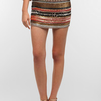 Hazel Silky Beaded Mini Skirt