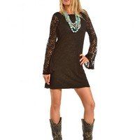 Cowgirl Justice Women's Black Lace Dress - Sheplers