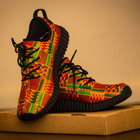 Kente Women's Breathable Woven Running Shoes