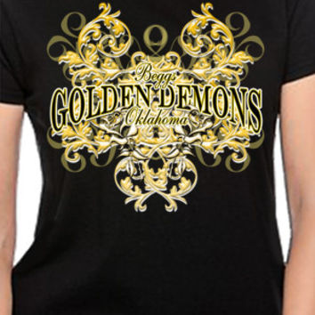 Beggs Golden Demons Floral T-Shirt