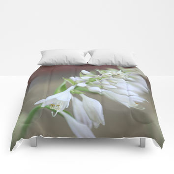 Foxglove Penstemon Comforters by Theresa Campbell D'August Art