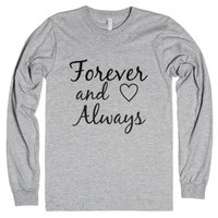 Forever and Always-Unisex Heather Grey T-Shirt