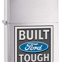 Zippo Ford Brushed Chrome Lighter