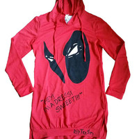 Hand Painted Ladies Deadpool Hoodie Dress