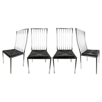 Pre-owned Milo Baughman Chrome Chairs - Set of 4
