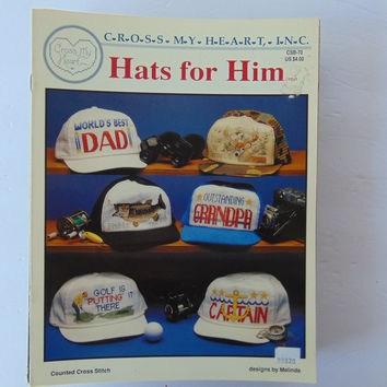 Hats For Him Base Ball Caps Cross Stitch by Cross my Heart Inc
