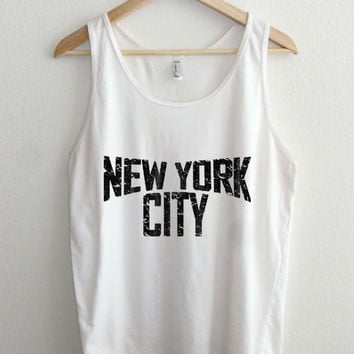Vintage New York City 70's Typography Unisex Tank Top