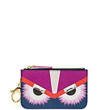 Fendi - Monster Swarovski Crystal-Accented Saffiano Leather Key Case - Saks Fifth Avenue Mobile