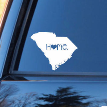 South Carolina Home Decal | South Carolina Decal | Homestate Decals | Love Sticker | Love Decal  | Car Decal | Car Stickers | 080