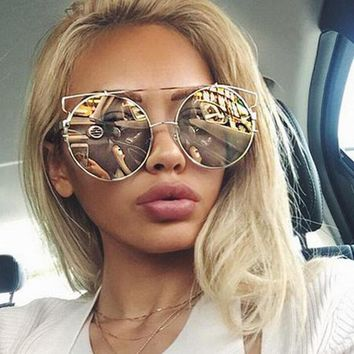 Newest Women Double Wire Oversized Sun Glasses Big Round Bohemian Vintage Sunglasses Ss180