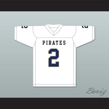 Carlos Thompson 2 Independence Community College Pirates White Football Jersey