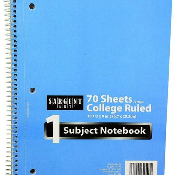 70 Sheet 1 Subject College Ruled Notebook - CASE OF 48