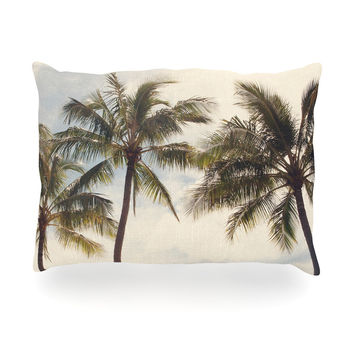 "Catherine McDonald ""Boho Palms"" Coastal Trees Oblong Pillow"