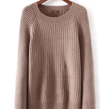 Split Side Ripped Sweater