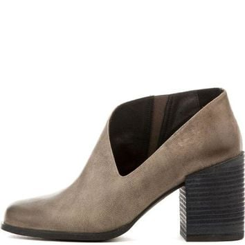 CREYI7E Free People for Women: Terrah Grey Heeled Booties