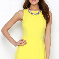 Here Comes the Fun Yellow Romper