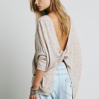 Free People Womens Simply Moon Print Top