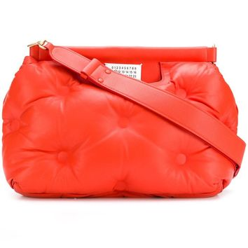 Reflective Hot Orange Glam Bag by Maison Margiela
