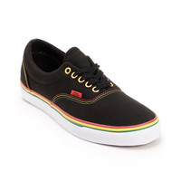 Vans Era Black & Rasta Canvas Skate Shoe