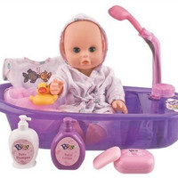 "Little Baby 13"" Bathtime Doll Bath Set for Kids"