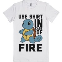 Use Shirt In Case of Fire-Female White T-Shirt