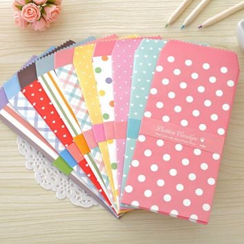 5 pcs/lot Envelopes Baby Gift Cards Colored Paper Envelopes New Cute Cartoon Colorful Paper Star Point