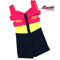 Downtown Colorblock Biker - Biketards - Dancewear