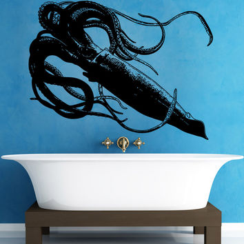 Vinyl Wall Decal Sticker Giant Squid #5336