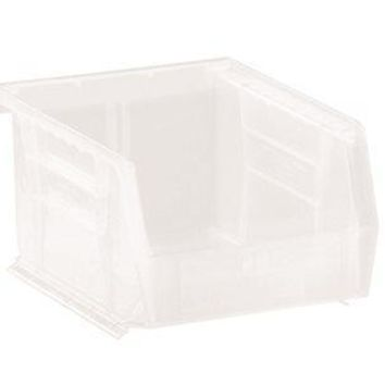 Quantum Storage Systems Stack And Hang Bin, 5-3-8 In. X 4-1-8 In. X 3 In., Clear