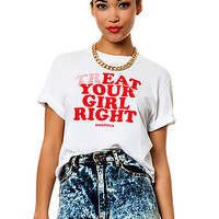 TrEAT Your Girl Right Crop Top / Tee - White