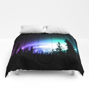 Aurora Borealis Forest Comforters by 2sweet4words Designs