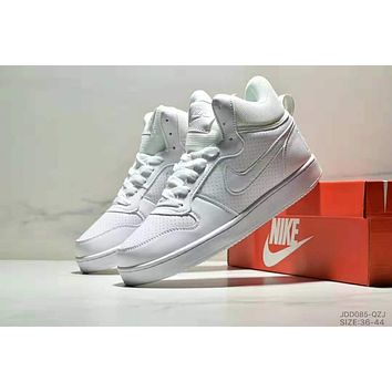 NIKE COURT BOROUGN MID trend men and women models wild fashion casual shoes White