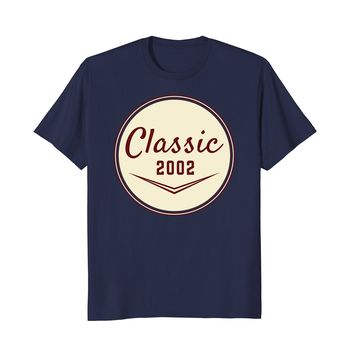 Vintage Classic 2002 T Shirt 16th Birthday Shirt Gift