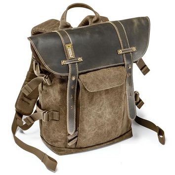 Genuine National Geographic Camera Bag Backpack NG A5280 Canvas and Leather Safely Carry Your DSLR, Laptop, Tripod