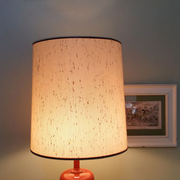 Beige Drum Shape 15 Inch  Lampshade Fiberglass Lamp Shade