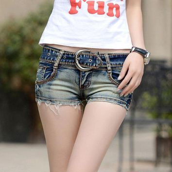 ONETOW 2018 new summer Fashion casual sexy cotton low waist skinny brand female women girls jeans shorts clothes 79130