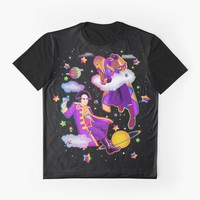'Lisa Frank Babylon 5 Londo Mollari and G'Kar ' Graphic T-Shirt by ladyyatexel