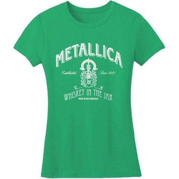 CUPUPWL Metallica - Whiskey In The Jar Juniors T-Shirt
